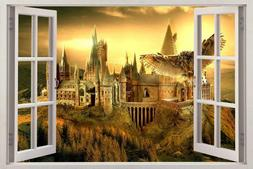 Harry Potter Style Hogwarts Castle Window View Decal Graphic