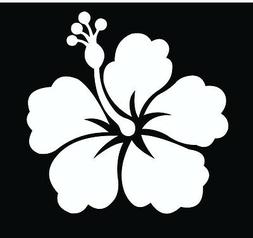Hawaiian Hibiscus Flower Vinyl Car Decal Decals Sticker Wind