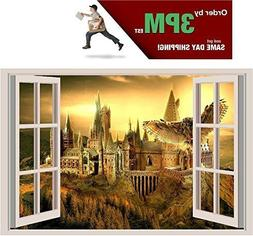 Hogwarts Harry Potter 3D Window View Decal Graphic WALL STIC