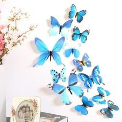 Home Decor 3D Butterfly Wall Stickers Decals For Kids Room F