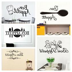 Home Decor Dining Room Wall Stickers Letters Decals Kitchen