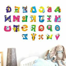 Home Decor For Kids Rooms Jungle Alphabet Wall Decal Mural P