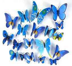 Margoth 24Pcs Home Decoration poster DIY 3D Butterfly Wall S