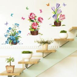 home garden potted flowers plants wall decor