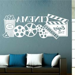 Home Theatre Cinema Popcorn Film Quote Wall Stickers Movie D