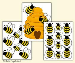 honey bumble bee hive wall art decals