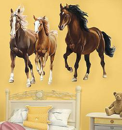 WALLIES HORSES wall stickers MURAL 2 HUGE decals pony farm a