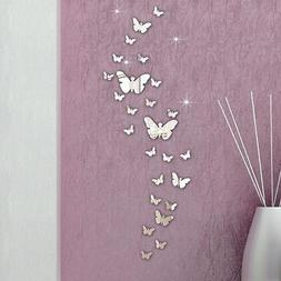 Hot 30PC DIY Butterfly 3D Mirror Art Wall Stickers Fashion H
