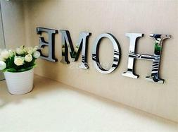 Hot Wedding Love English Letters Home Decor 3D Mirror Wall S