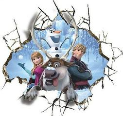 Huge 3D Frozen inspired Anna olaf Breaking through Wall Deca