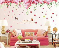 Amaonm Large Huge Fashion Pink Romantic Cherry Blossom Flowe