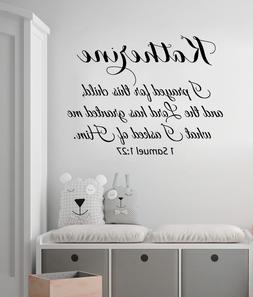 I Prayed For This Child Wall Decal Quote Girl Name Decal Nur
