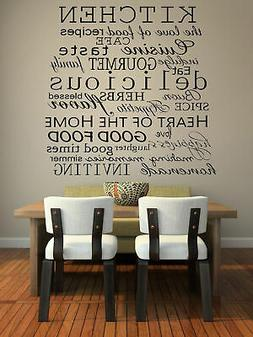 Imprinted Designs Kitchen Words Decorative Vinyl Wall Decal