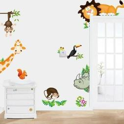 In The Jungle Wildlife Animal Stickers Wall Decals ~ Childre