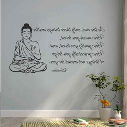 BATTOO Indian Buddha Wall Decal Sticker - Only Three Things