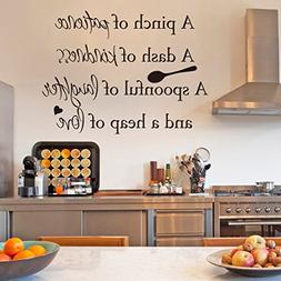 Inspirational Wall Sticker Quotes Words Art Removable Kitche