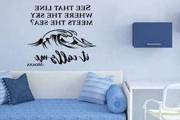 Inspired by Moana Wall Decal Sticker See That Line Where The