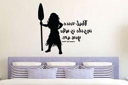 Inspired by Moana Wall Decal Sticker That Voice Inside Is Wh