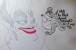 Inspired by The Little Mermaid Wall Decal Sticker Ursula Tou