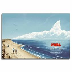 Jaws 12x18/24x36inch Classic Movie Silk Poster Cool Gifts Ar