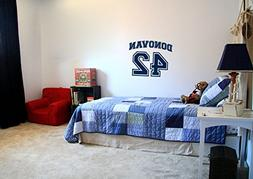 Sports Jersey Custom Name and Number Vinyl Wall Words Decal