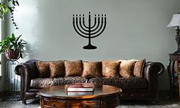 DECAL SERPENT Jewish Hanukkah Menorah Silhouette Vinyl Wall