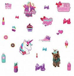 JOJO SIWA Cute and Confident wall stickers 23 decals with gl
