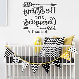 BATTOO Joshua 1:9 Be strong and courageous - Nursery Wall De