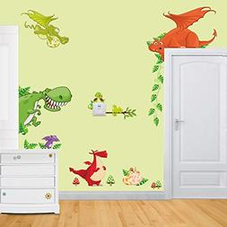 ElecMotive Jungle Wild Animal Vinyl Wall Sticker Decals for
