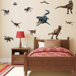 Jurassic World Wall Sticker Dinosaur Art Decals Removal Boys