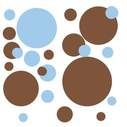 RoomMates Just Polka Dots Blue Brown Peel & Stick Wall Decal