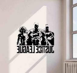 Justice League Wall Decal Superhero Decor Superman Vinyl Sti