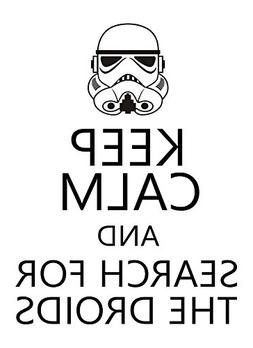 Keep Calm and Droids Star Wars STICKER DECAL VINYL BUMPER CA