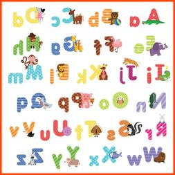 Kids Animal Alphabet Wall Decals Cute Removable ABC Stickers