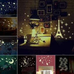 Kids Ceiling Wall Stickers Bedroom Glow in the Dark Stars Mo