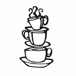 Kitchen Decor Wall Paper Coffee House Cup Decals