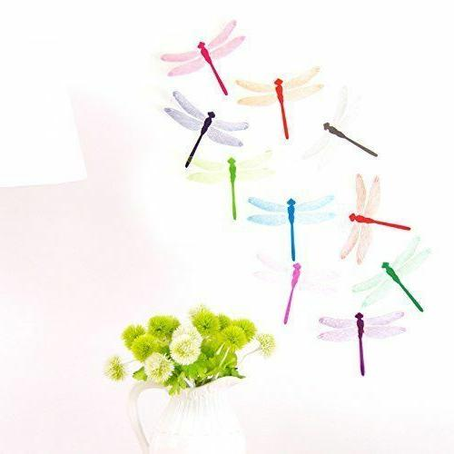 10 pcs 3d colorful dragonfly diy ornament