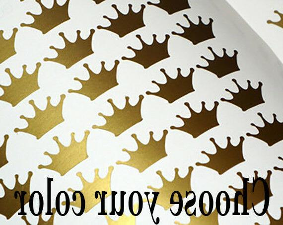 100 gold crown wall decal princess sticker