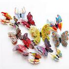 12pcs 3d butterfly sticker art design decal