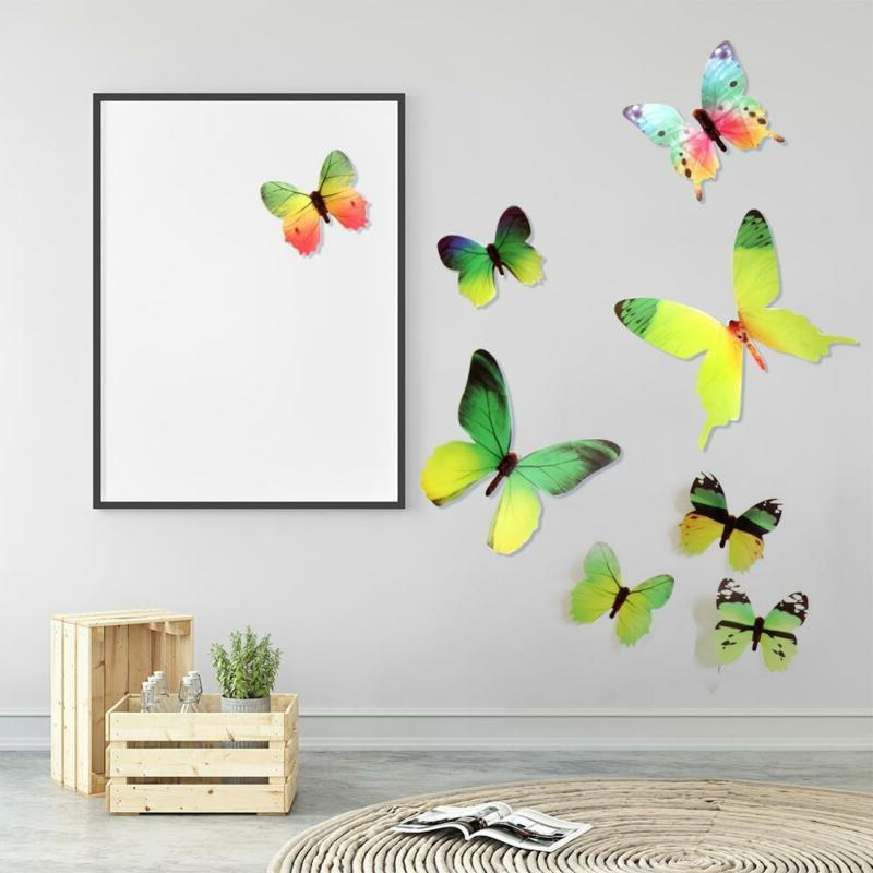 12pcs 3D Butterfly Art Wall Decals Decoration