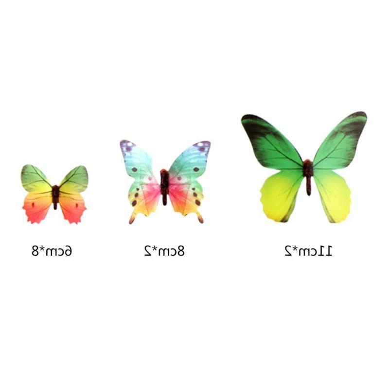 12pcs Butterfly Sticker Art Wall Kids Home Decoration