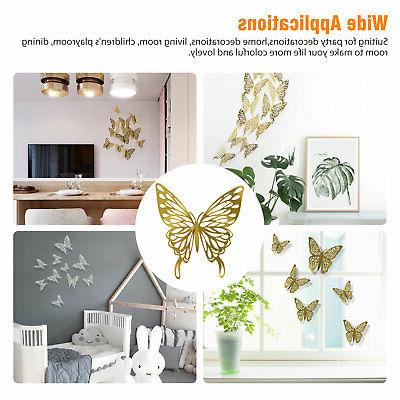 24/12 PCS 3D Wall Stickers Art Home Decor