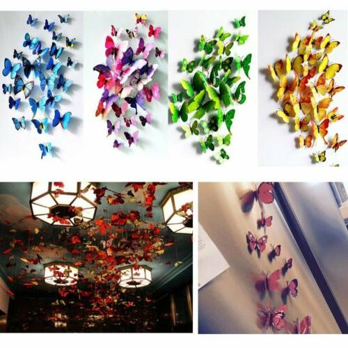 24Pcs Butterfly Stickers Room Decor US