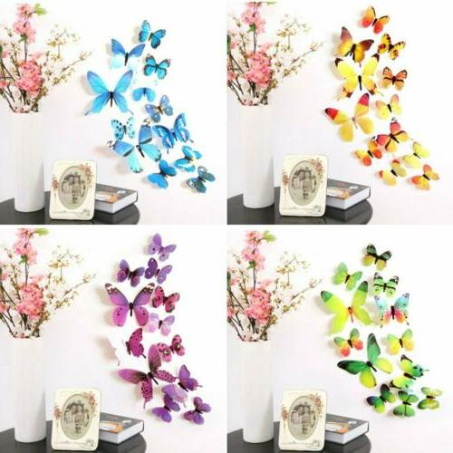 24Pcs 3D Stickers Magnetic Home Room