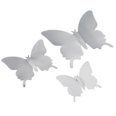 12pcs Mirror Butterfly Removable Decor