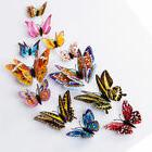 12pcs 3D Lovely Butterfly Wall Stickers Art Design Decal Roo