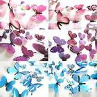 12pcs Decal Wall Stickers Home Decorations 3D Butterfly Rain