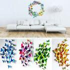 12x3D Butterfly Wall Stickers Art Decal for Home Room Kitche