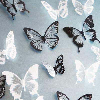 18pcs 3D Butterfly Colorful Wall Crystal New R