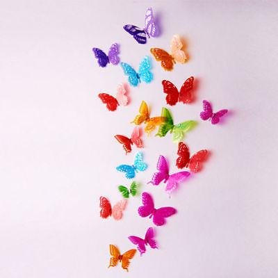 18pcs 3D Butterfly Colorful Stickers Decals Crystal R